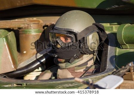 Soldier of french foreign legion in observation.