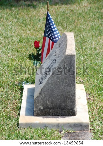 Soldier's grave - stock photo