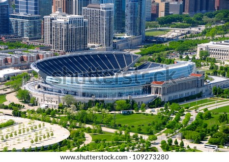 Soldiers Field, Chicago - stock photo