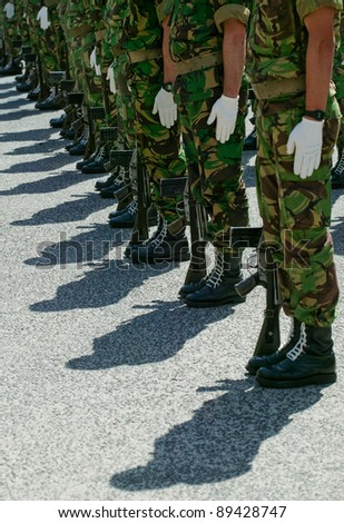 Soldiers in army Parade