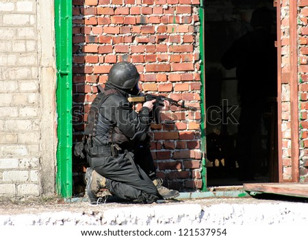 Soldiers in Army Special Forces uniform - stock photo