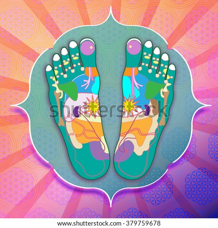 sole of the foot with reflexology