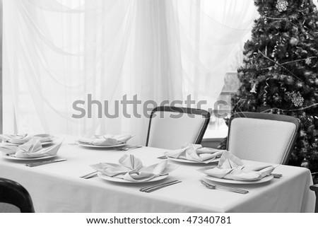 Solemn dinner for Christmas - stock photo