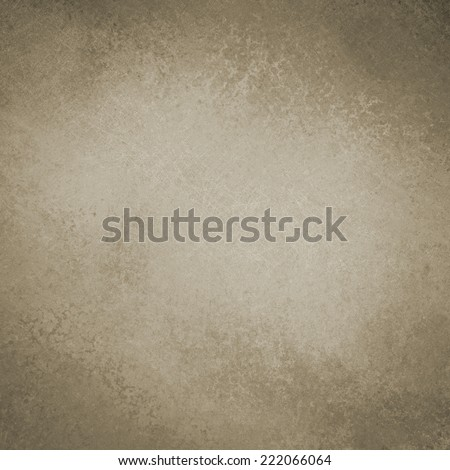 solid brown background design with distressed vintage texture and faint black grunge border, vintage brown paper, old smeared painted plaster wall background  - stock photo