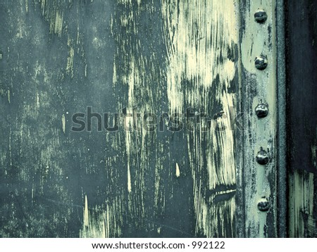 solid iron part - stock photo