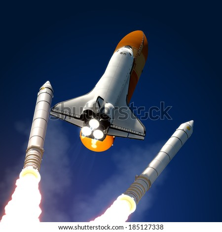 space shuttle with booster rockets - photo #21
