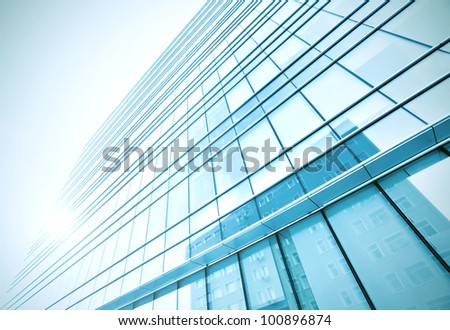 solid texture of glass windows - stock photo