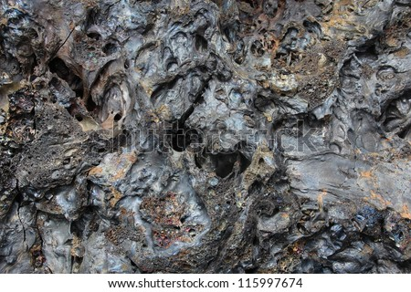 Solidified Lava Closeup