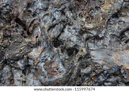 Solidified Lava Closeup - stock photo