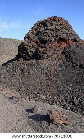 Solidified lava on Lanzarote Island