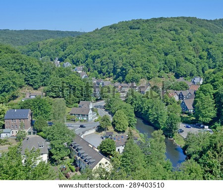 Solingen-Unterburg,Wupper River near Wuppertal,Bergisches Land,North Rhine Westfalia,Germany - stock photo