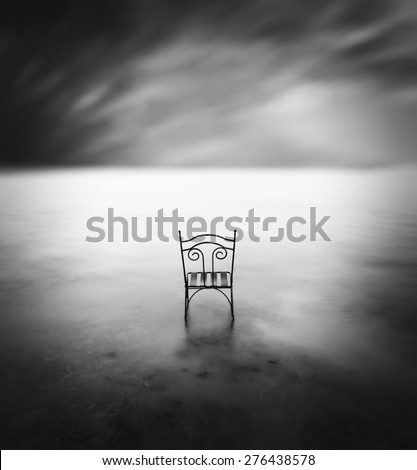 solitude black and white photography - stock photo
