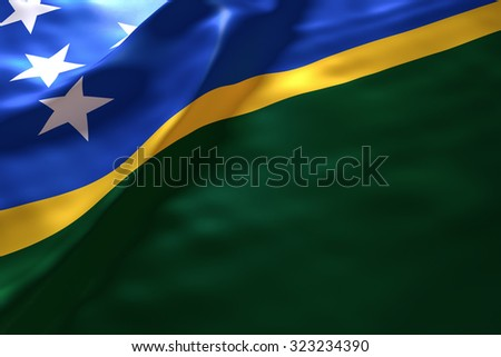 Solomon Island flag background