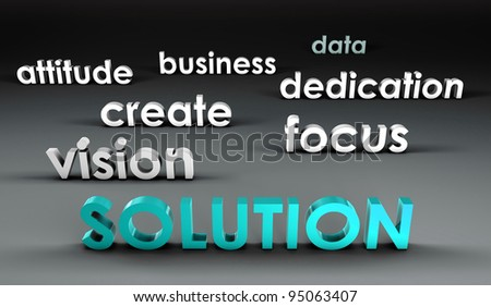 Solution at the Forefront in 3d Presentation - stock photo