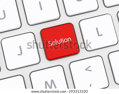Solution Computer Keyboard - stock photo