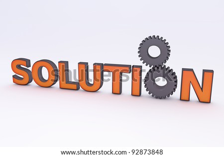 Solution concept - stock photo