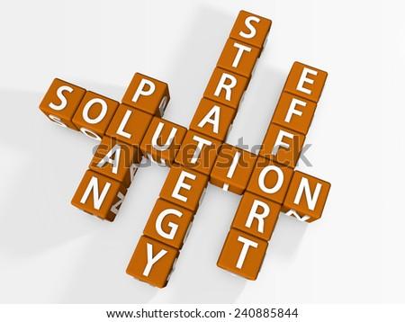 Solution Crossword - stock photo