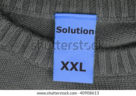 solution for a business problem shown by fashion tag