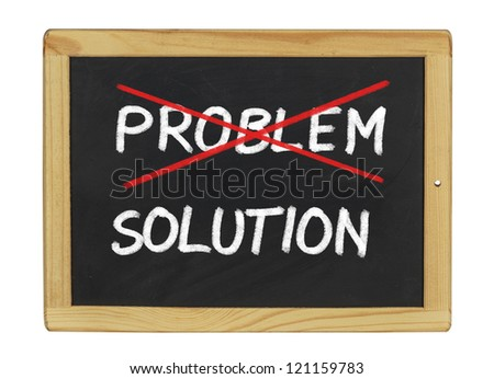 Solution for a problem written on a blackboard