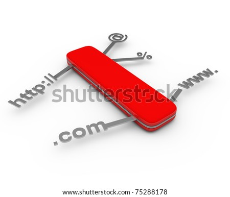Solution for all - this is 3d illustration - stock photo