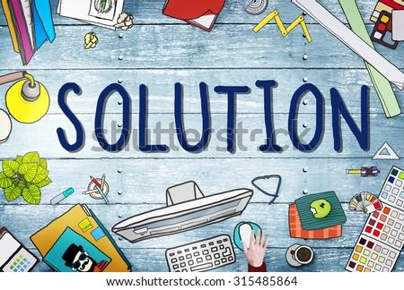 Solution Innovation Progress Strategy Decision Concept - stock photo