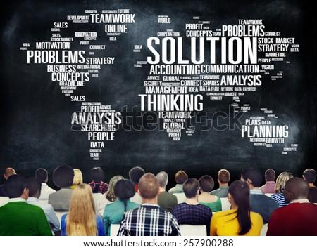 Solution Solve Problem Strategy Vision Decision Concept - stock photo