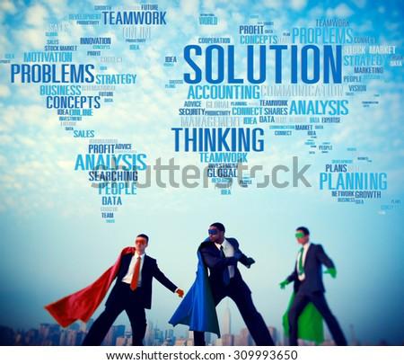 Solution Success Solved Decision Strategic Progress Concept - stock photo