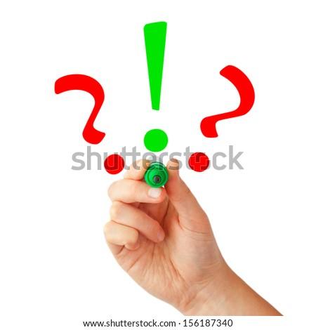 Solution symbol - stock photo