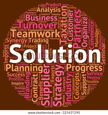 Solution Word Meaning Solved Successful And Resolution