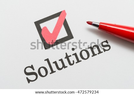 Solutions, check box