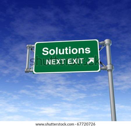 Solutions Freeway Exit Sign highway street symbol green signage road symbol
