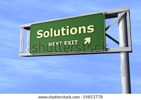 Solutions - Next exit - stock photo