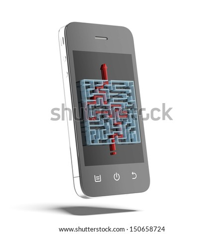 solutions of maze on the phone