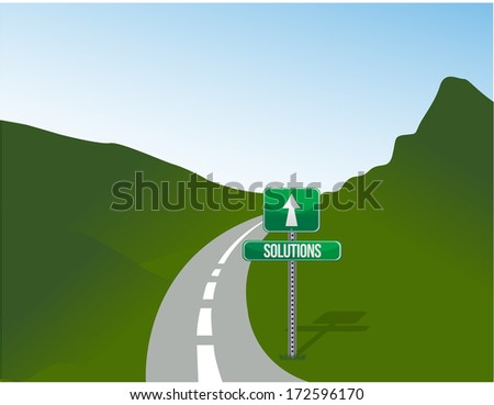 solutions road illustration design over a landscape