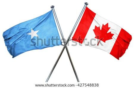 Somalia flag  combined with canada flag - stock photo