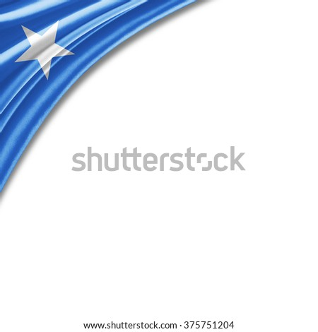 Somalia flag of silk with copyspace for your text or images and white background - stock photo