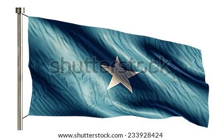 Somalia National Flag Isolated 3D White Background - stock photo