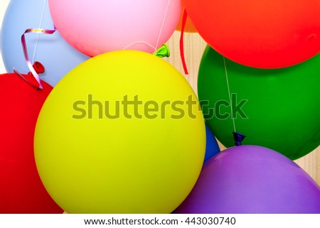 Some air balloons. Close up. - stock photo
