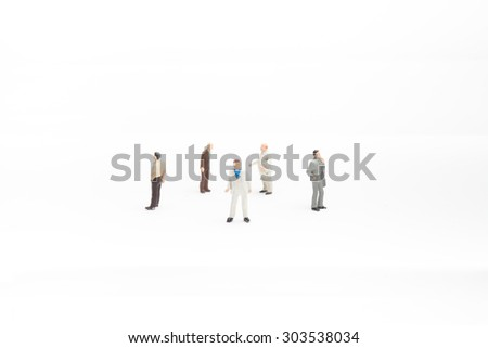 some business people on white background - stock photo