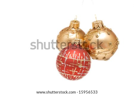 Some christmas balls isolated