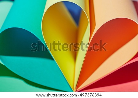 some color paper sheets abstraction