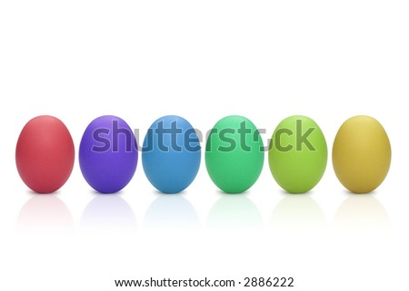 some colorful eggs for easter