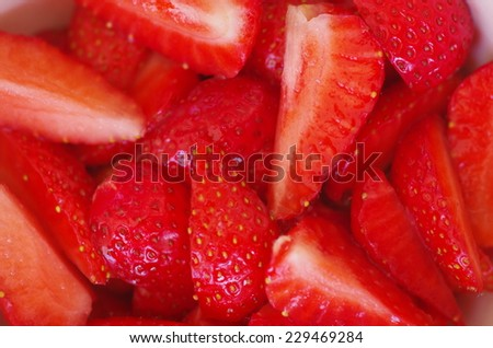 some delicious and red strawberries