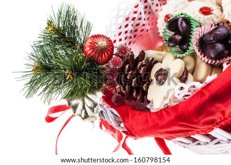 some delicious christmas pastries isolated over a white background - stock photo