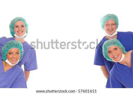 Some doctors - stock photo