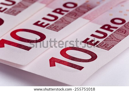 Some Euro banknotes. Macro photo. Money concepts - stock photo