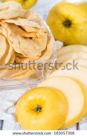 Some fresh made dried Apple Rings (made out of green apples)