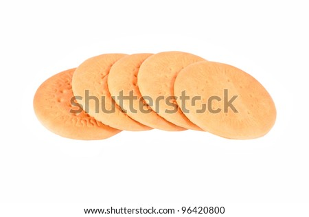 Some hardtack cookie, isolated on white background