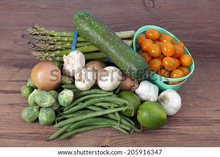 some kinds of healthy vegetables on table