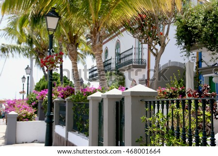 Restaurant Patio Fence Pretty Restaurant Patio Decorated Purple Petunia  Stock Photo